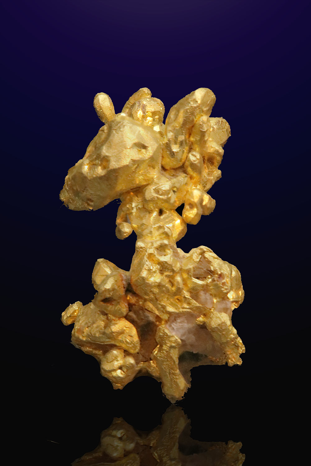 Colorado Quartz Mine, Mariposa County - Gold Crystal