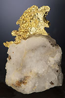 Crystalline Gold in Quartz - Harvard Mine