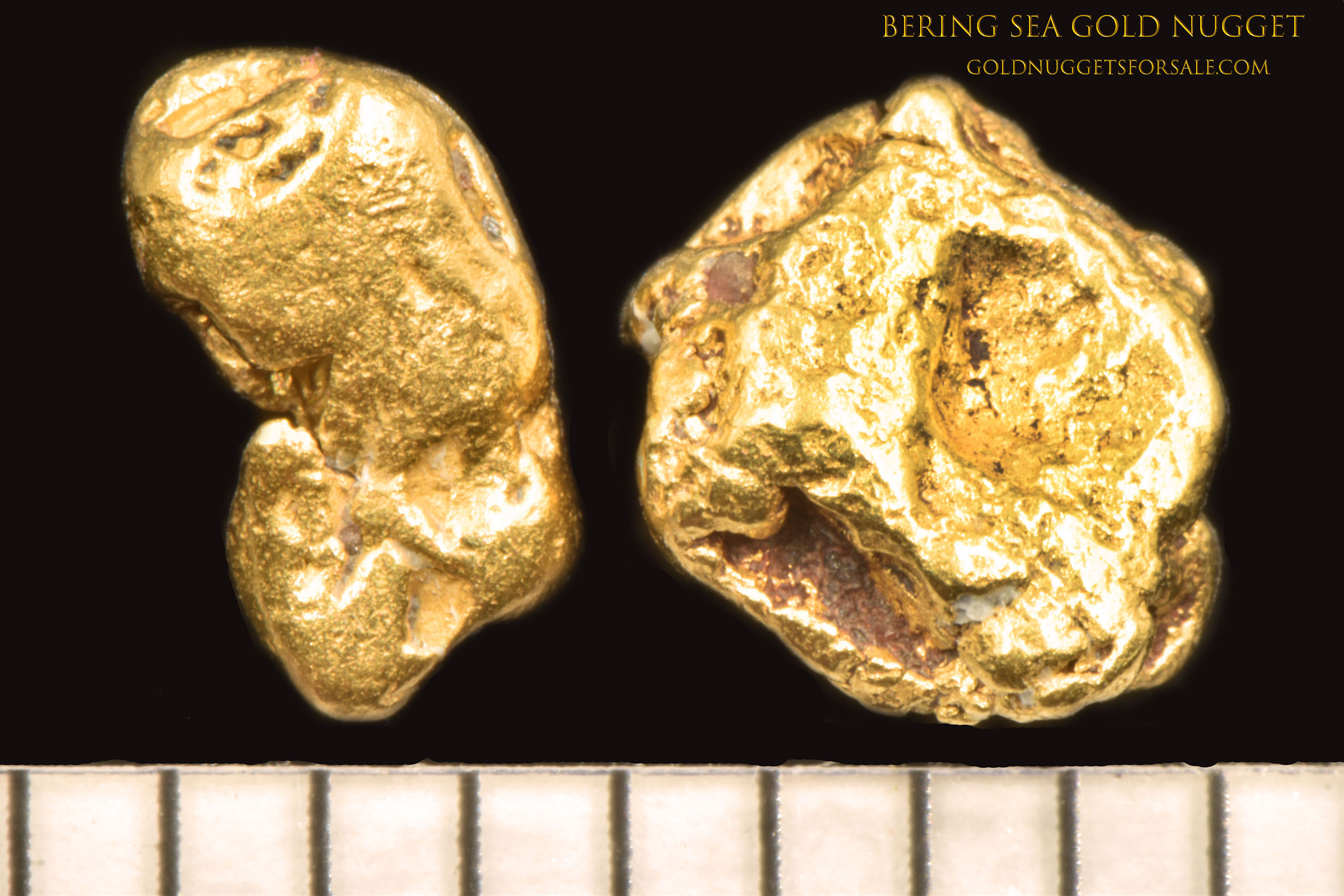 Beautiful Pair of Natural Bering Sea Gold Nuggets