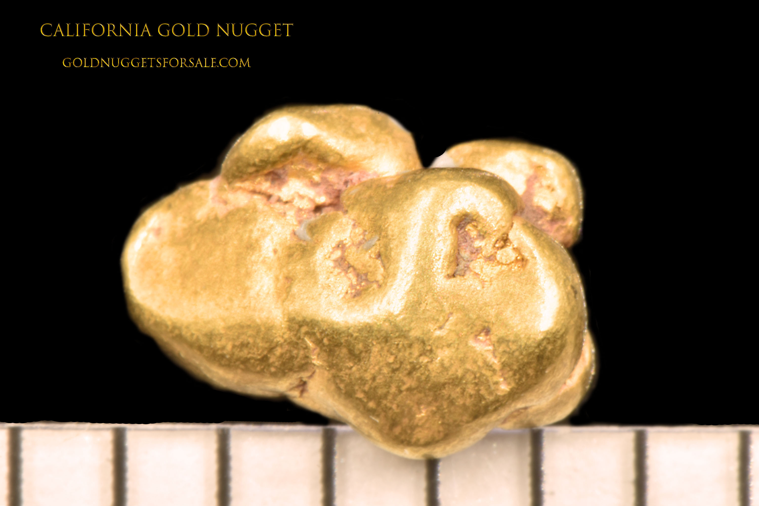 Rounded and Plump Jewelry Grade California Gold Nugget - Click Image to Close