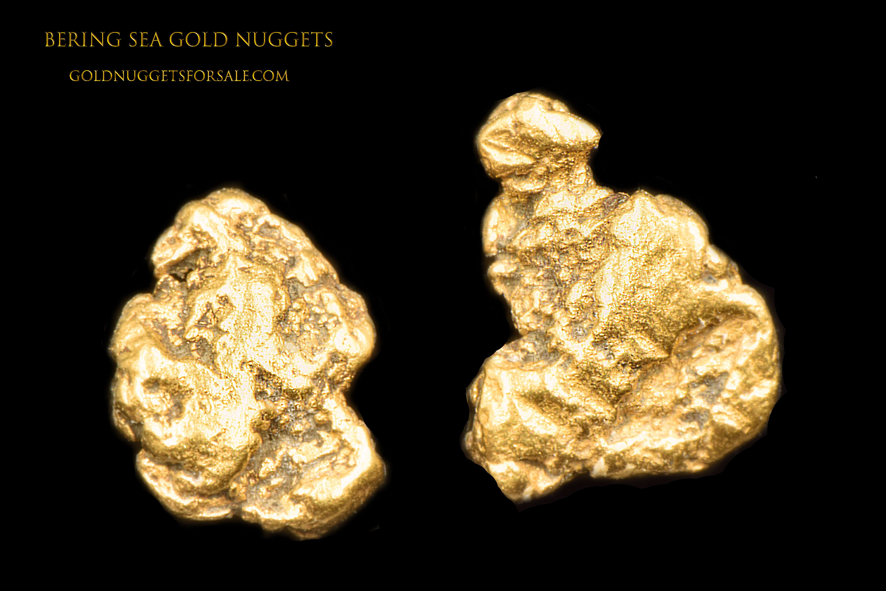 Twin Jewelry Grade Gold Nuggets from the Bering Sea