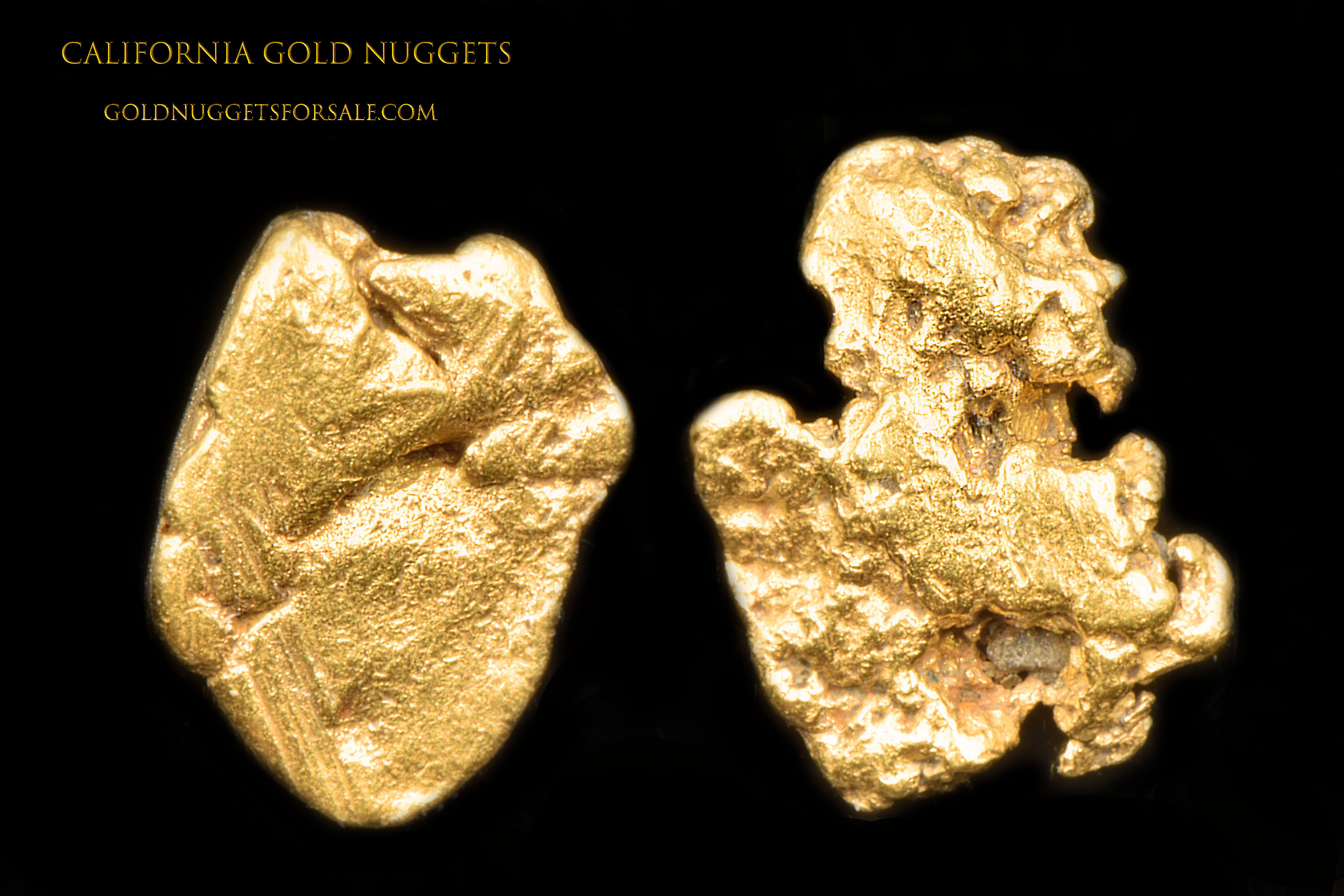 A pair of Jewelry Grade California Gold Nuggets